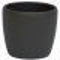 B Ware Keramik Hydro Blumentopf Venus dunkel grau struktur matt