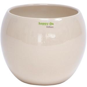 B Ware Keramik Blumentopf Pisa rund sand beige Ø...