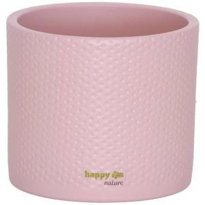 B Ware Keramik Blumentopf Toscana silber rosa matt Ø 13.5 cm H 12.5 cm