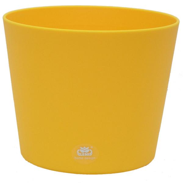 Kunststoff Blumentopf Flori Farbe gelb
